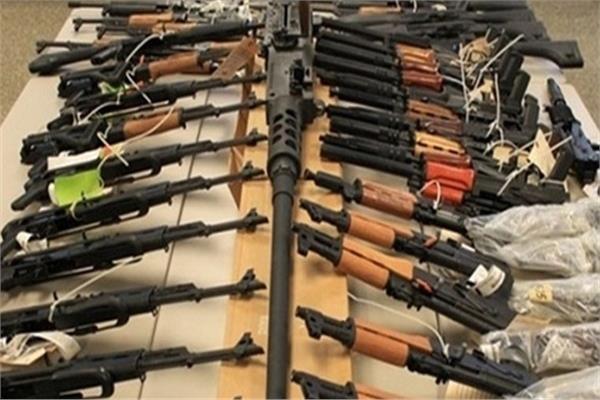 ضبط 4 قطع أسلحة نارية وكميات من البانجو فى ميت غمر