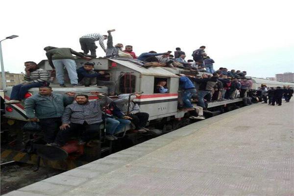 امسك مخالفة  قطار المنوفية لا يعرف أمان ولا يخاف كورونا