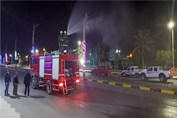 تعقيم كافة أحياء شوارع ومشايات مدينة طور سيناء اليوم
