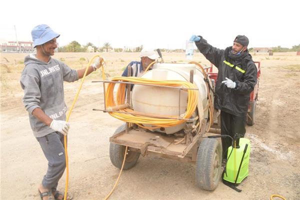 حملات لتعقيم وتطهير قرى الوادي الجديد