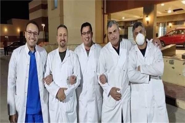 الطاقم الطبي بمستشفى النجيلة بمرسى مطروح