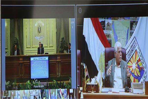 محافظ جنوب سيناء يطمئن رئيس الوزراء عبر الفيديو كونفرانس بإستقرار الأوضاع بالمحافظة