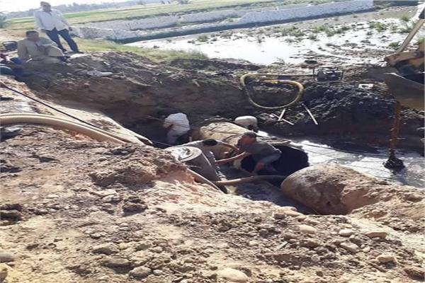 محافظ سوهاج: الانتهاء من إصلاح خط طرد بيت داوود قطر 1000مم