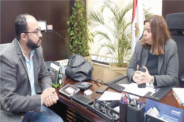 مي عبد الحميد خلال حوارها مع الأخبار