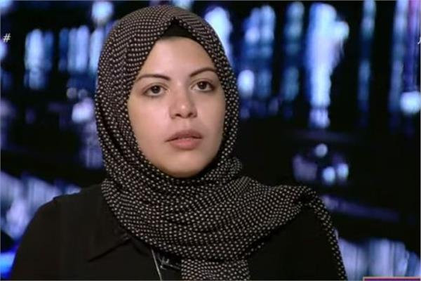 المهندسة ندى حسن زوجة الشهيد أحمد شبراوى