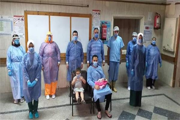 سيدة تضع طفلة بالحجر الصحي بالمدن الجامعية بالزقازيق