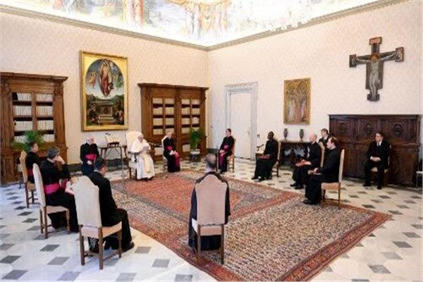 البابا فرنسيس يلقي عظته الأسبوعية عبر الشبكة الالكترونية