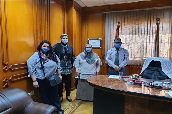 وفد أمانة الصحة النفسية خلال تفقد مستشفى القاهرة الفاطمية