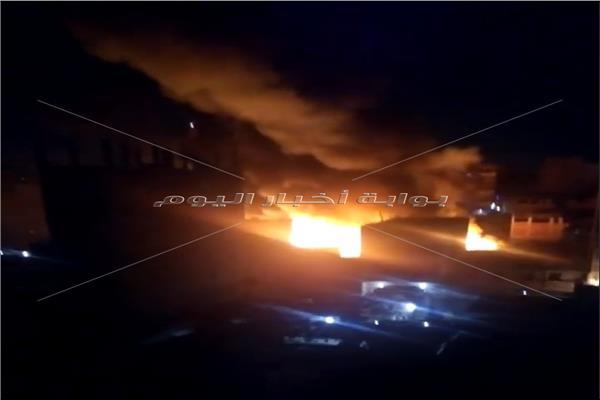حريق بمنطقة الزرايب