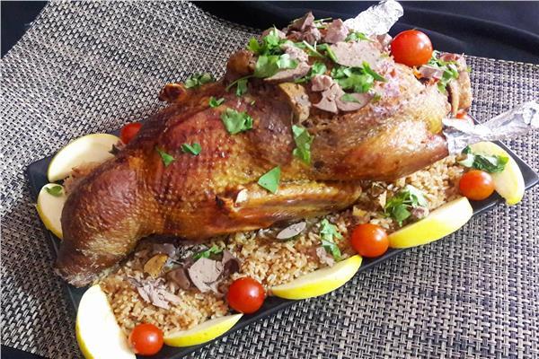 طريقة عمل البط المحشو أرز بالخلطة