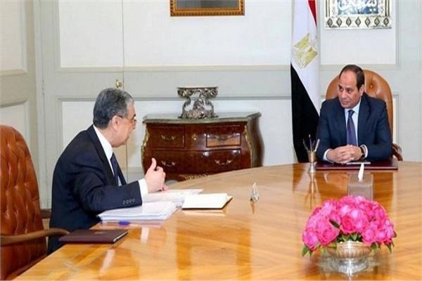 الرئيس عبد الفتاح السيسي ووزير الكهرباء والطاقة