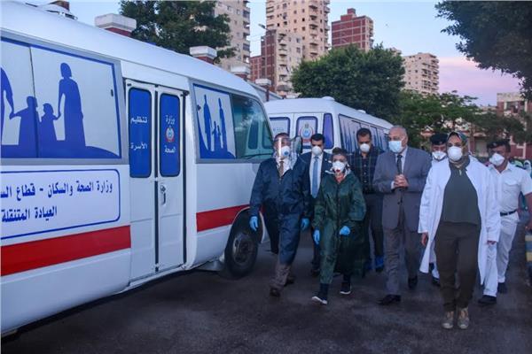 محافظ الإسكندرية يتفقد كفاءة العمل بمستشفى الحميات