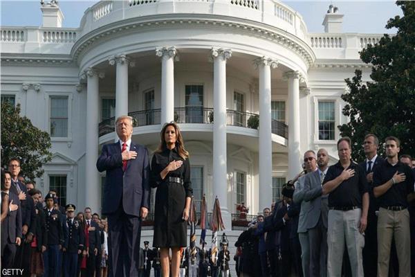 ترامب وزوجته في البيت الأبيض