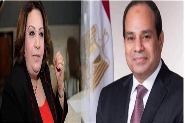 عبد الفتاح السيسي وتهاني الجبالي