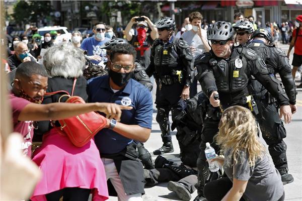 المظاهرات الأمريكية تتصاعد