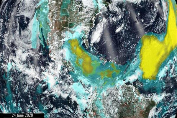الأقمار الصناعية ترصد عمودا رمليا هائلا يخرج من أفريقيا ويصل إلى أمريكا