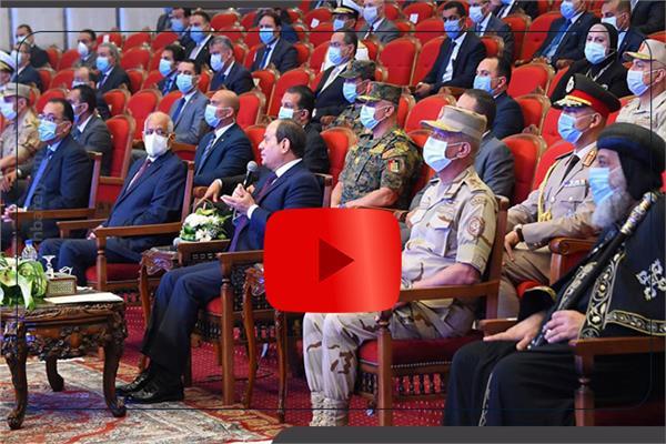 بالفيديوجراف : أبرز تصريحات الرئيس السيسى اليوم خلال افتتاح مشروعات قومية