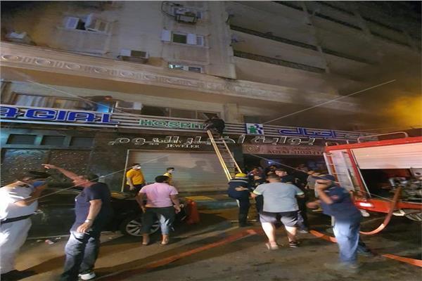 حريق هائل بمستشفى أجيال في الإسكندرية