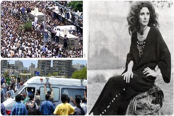 سعاد حسني ومشهدين من جنازتها