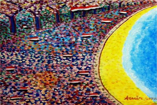 لوحة 30 يونيو للفنان التشكيلي أمير وهيب