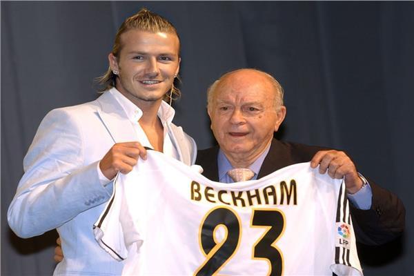 ديفيد بيكهام في ذكرى انضمامه لريال مدريد