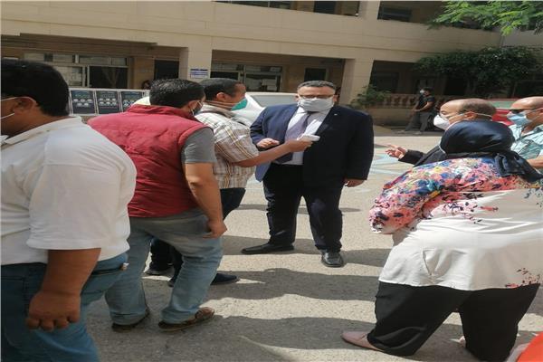جولة تفقدية لنائب رئيس جامعة الإسكندرية