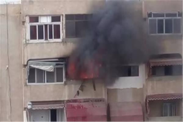 حريق شقة سكنية فى مدينة نصر