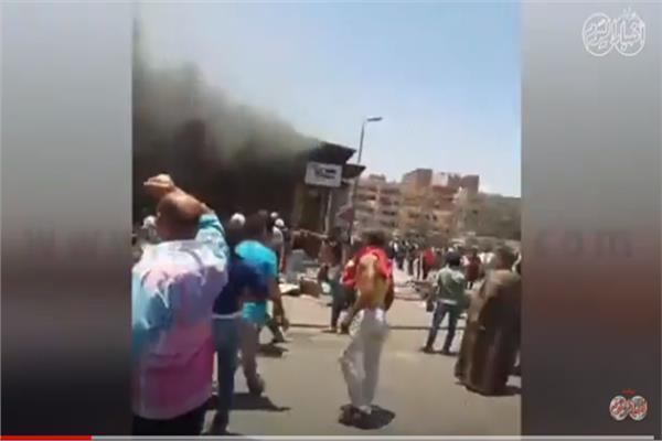 حريق  سوق توشكى بحلوان