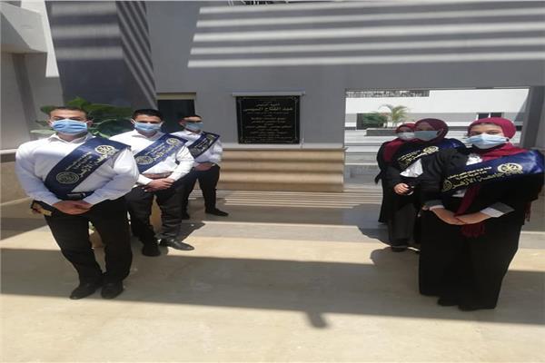 طلاب بالأزهر يشاركون في افتتاح الرئيس السيسي مشروعات قومية والأسمرات 3