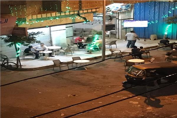 مقاهي ترعة الشابوري تخالف قرار مجلس الوزراء