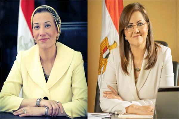الدكتورة هالة السعيد والدكتورة ياسمين فؤاد