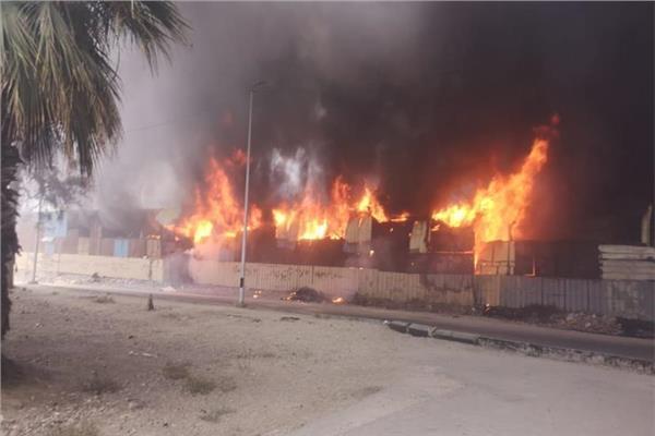 السيطرة على حريق في محطة التجارب الزراعية