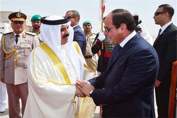 الرئيس السيسي وملك البحرين - أرشيفية