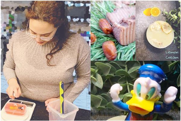 منتجات صابون بالتمر وعلى شكل لعب أطفال