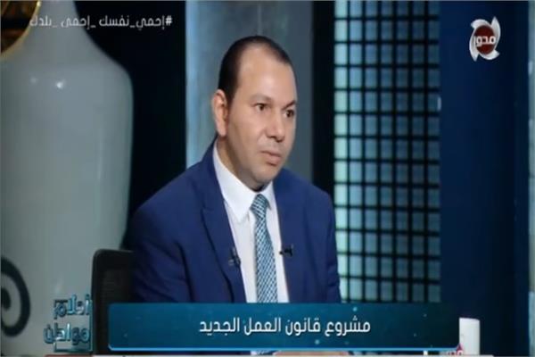 إيهاب عبد العاطي المستشار القانوني لوزارة القوي العاملة