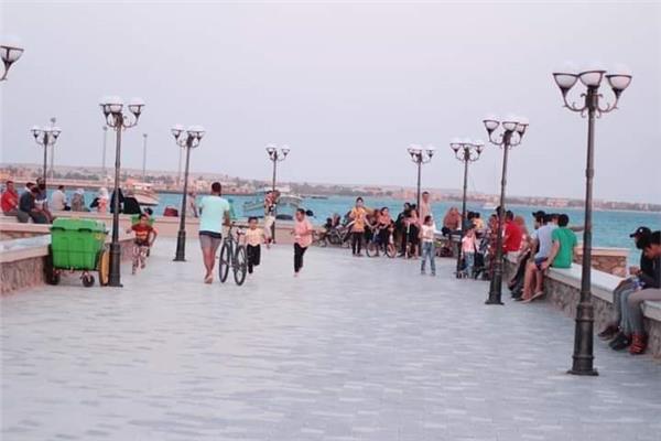 توافد محدود على الشواطئ والساحات في جنوب سيناء