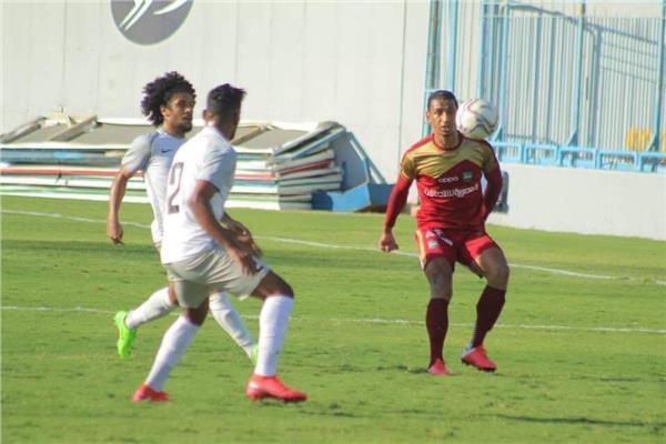 صورة من المباراة الودية
