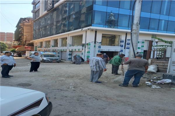 استمرار حملات النظافة بشوارع طنطا طوال أيام العيد