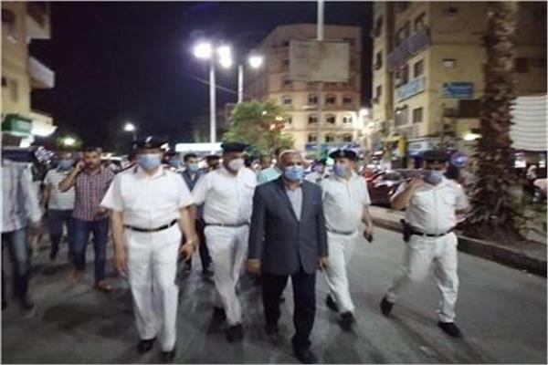 حملة ليلية بقيادة مدير أمن الأقصر