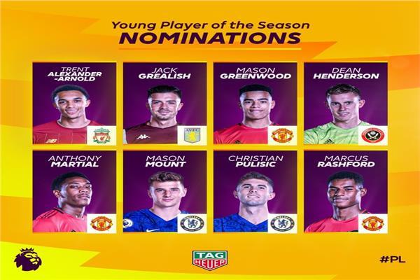 7 لاعبين يتنافسون على جائزة «الأفضل» بالدوري الإنجليزي