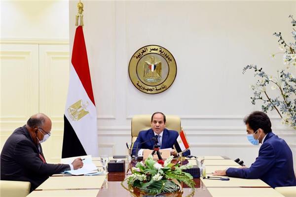 الرئيس عبدالفتاح السيسي خلال مشاركته بمؤتمر دعم لبنان