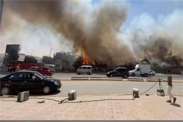 حريق حديقة ميدان الرماية