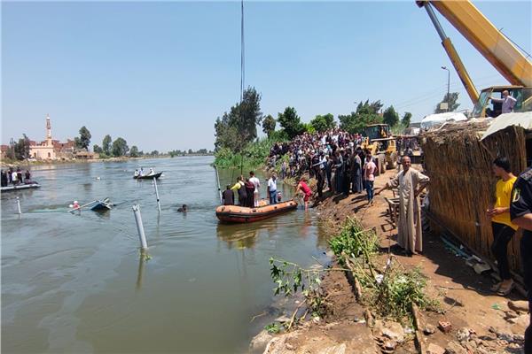 ضحايا حادث غرق المعدية