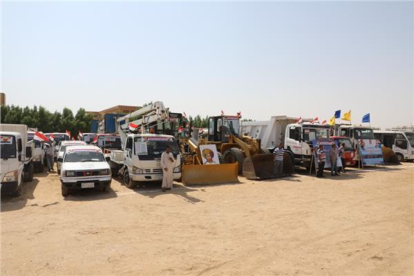 تنظم اصطفاف معدات الوحدات المحلية