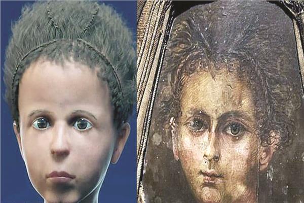وجه الطفل المصري بعد تحميل صورة افتراضية لجمجمته