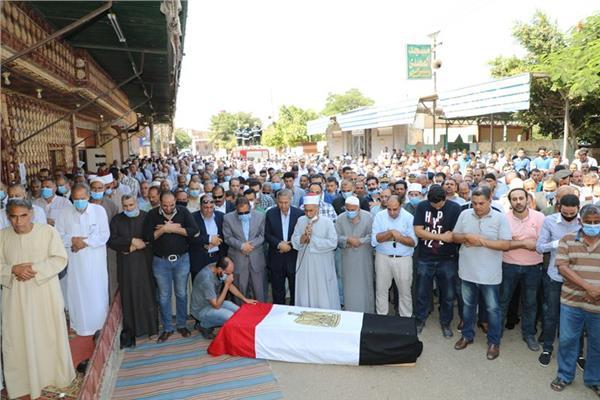 الجنازة العسكرية للشهيد الرائد محمد عفت القاضى