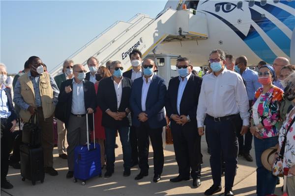 وزراء الطيران والسياحة والبيئة والإعلام