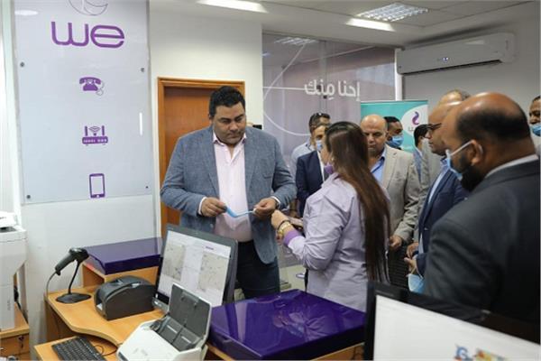 صورة المصرية للاتصالات تواصل أعمال تطوير البنية التحتية برأس غارب والزعفرانة