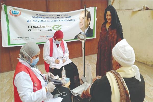 «100 مليون صحة» تواصل الكشف على المواطنين بالمحافظات