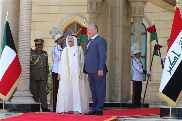 الشيخ صباح الأحمد الجابر الصباح والرئيس العراقي برهم صالح